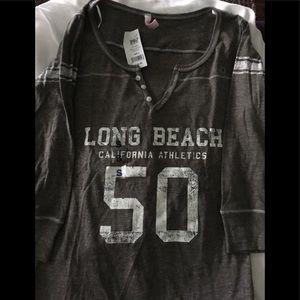 NWT 3/4 length shirt graphite ( gray)